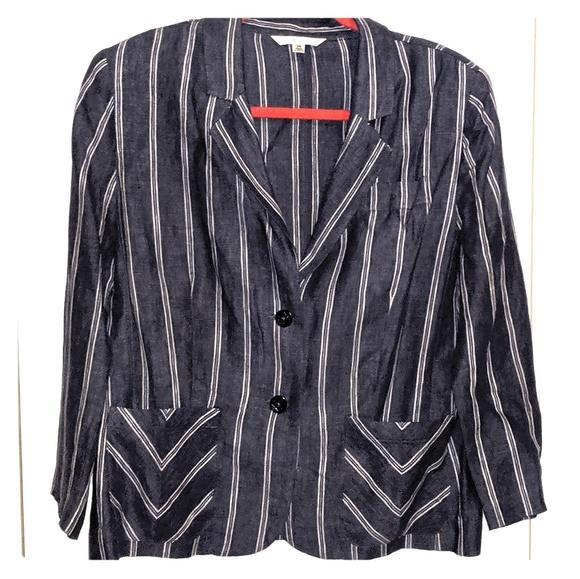 CAbi Jackets & Blazers - Cabi jacket 3/4 sleeve pinstripe lightweight denim